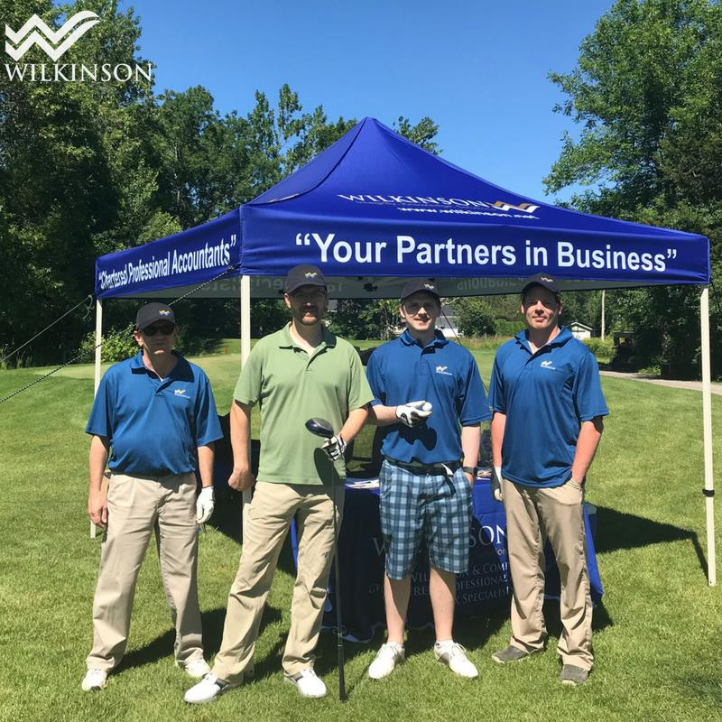 Greater Kingston Chamber of Commerce golf tournament 2018 - Martin Gravelle, Kris Himberg-Larsen, Bryer Clancy, Kyle Wetering